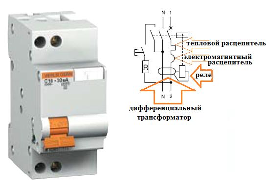 Принципиальная схема устройства AD63