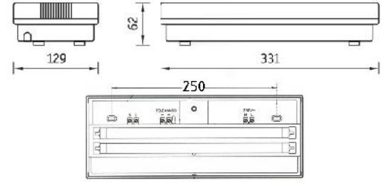 Габаритные размеры : Светильник ANTARES для аварийного освещения
