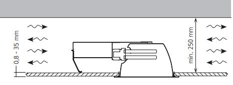 Способ установки точечных светильников DOWNLIGHT в подвесные потолки