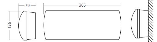 Габаритные размеры и способ монтажа  аварийных светильников 2601-2604 IP42 и IP65