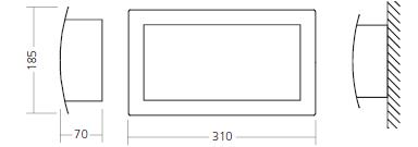 Габаритные размеры и способ монтажа  аварийных светильников 2611-2614 IP20