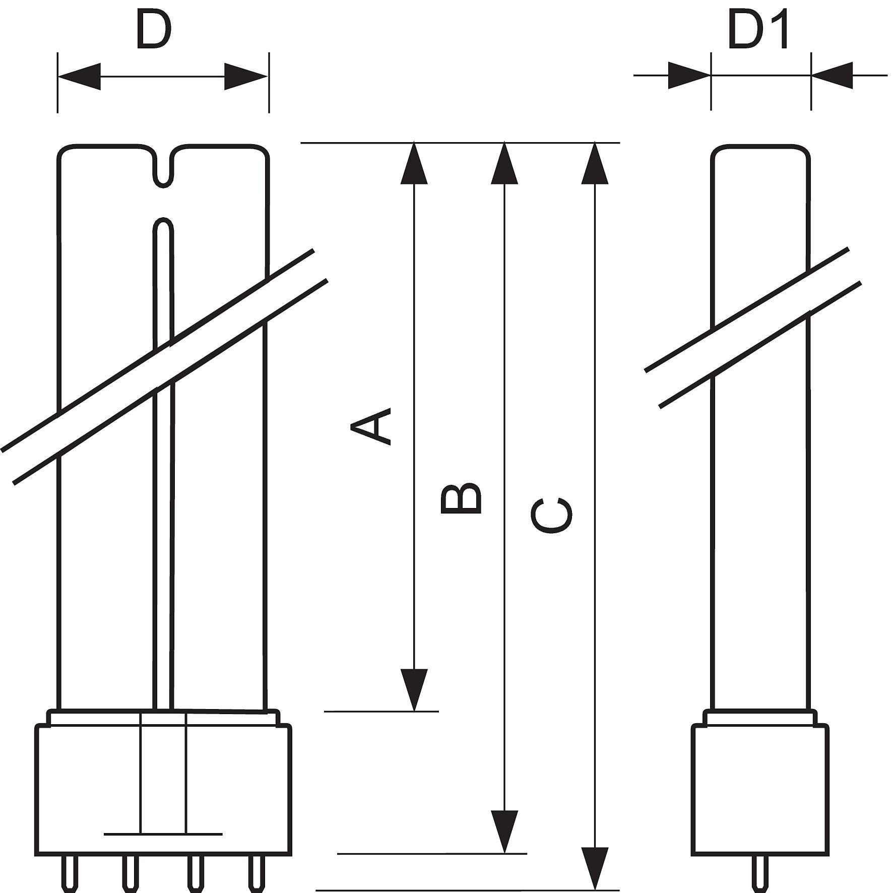 схема включения лампы osram dulux s blue uva