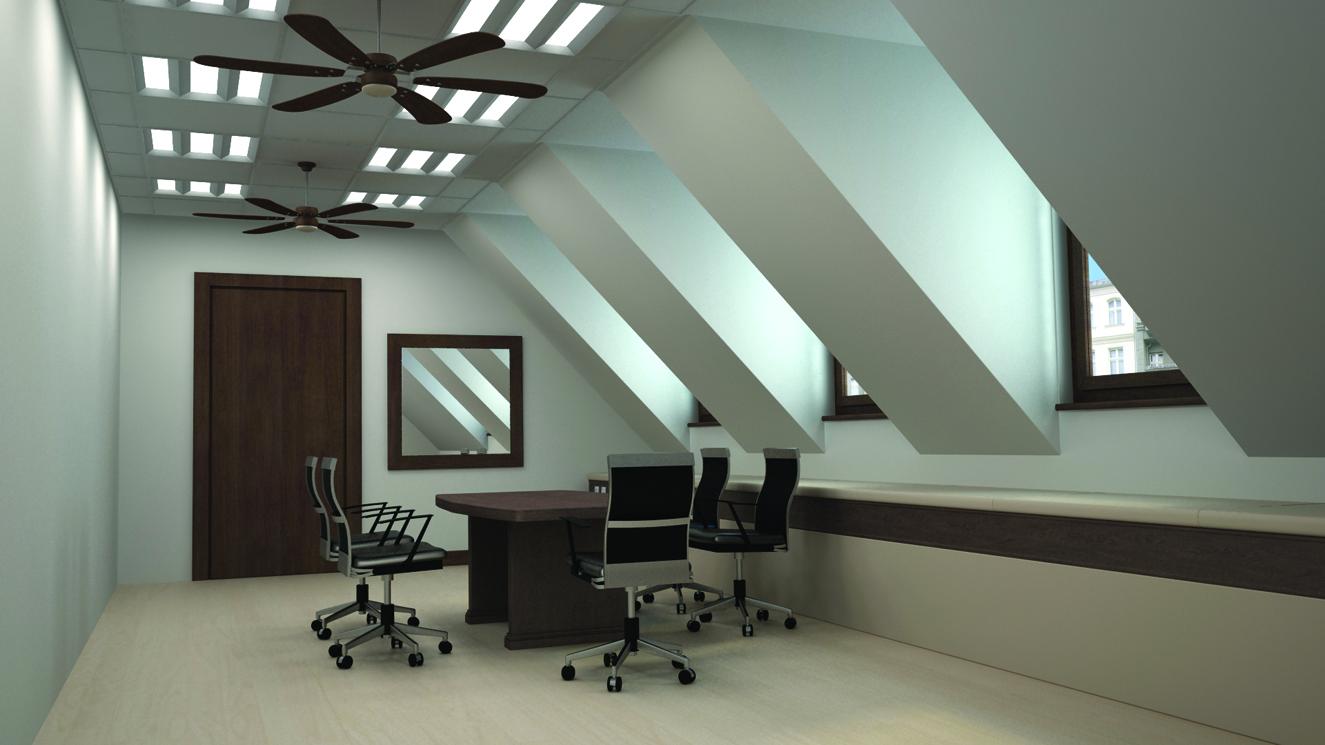 Фотография интерьера офиса с использованием светодиодных светильников WAVE ECO LED : электромаркет интернет-магазин ELMAR Украина