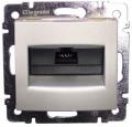 Компьютерная розетка 1xRJ45 кат.5Е UTP на захватах Valena (алюминий) : интернет-магазин Elmar Украина