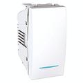 Выключатель 1-клавишный с подсветкой (1 модуль Белый, Unica) MGU3.101.18N : интернет-магазин Elmar Украина