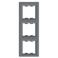 Рамка 3 местная вертикальная EPH5810362 Asfora Сталь : интернет-магазин Elmar Украина
