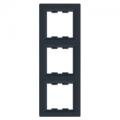 Рамка 3 местная вертикальная EPH5810371 Asfora Антрацит : интернет-магазин Elmar Украина
