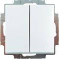 2006/6/6 UC-94-507 Переключатель 2-клавишный (сх. 6+6) Basic 55 цвет-белый ABB : интернет-магазин Elmar Украина