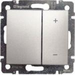 Диммер-светорегулятор 40-600 Вт кнопочный Valena (алюминий) : интернет-магазин Elmar Украина