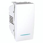 Переключатель-Выключатель 1-клавишный (сх. 6) с подсветкой (1 модуль Белый, Unica) MGU3.103.18N : интернет-магазин Elmar Украина