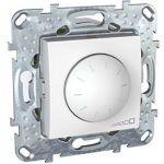 СветоРегулятор  поворотно-нажимной  40-1000W (2мод. Белый, Unica) MGU5.512.18 : интернет-магазин Elmar Украина