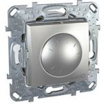 СветоРегулятор  поворотно-нажимной  40-1000W (2мод. Алюминий, Unica) MGU5.512.30  : интернет-магазин Elmar Украина