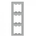 Рамка 3 местная вертикальная EPH5810361 Asfora Алюминий : интернет-магазин Elmar Украина