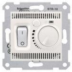 Термостат для теплого пола 10А,с датчиком 4м (слоновая кость) SEDNA Schneider Electric SDN6000323 : интернет-магазин Elmar Украина