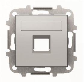 8518.1 PL Лицевая панель с суппортом одинарной коммуникационной розетки серебряный Sky : интернет-магазин Elmar Украина