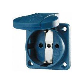 16А 2п+З 230В розетка SCHUKO панельная с пружинными клеммами IP54 синяя : интернет-магазин Elmar Украина