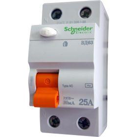 УЗО  ВД63 2P 30mA 25A Домовой Schneider Electric : інтернет-магазин Elmar Україна