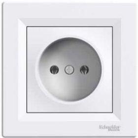 Розетка электрическая без заземления (белый) Asfora : интернет-магазин Elmar Украина