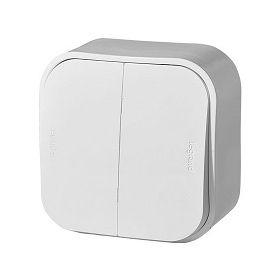 Выключатель двухклавишный 10А 250 В Forix (Quteo) (белый) : интернет-магазин Elmar Украина