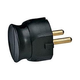 Вилка электрическая угловая 16А 2-контакта черная Legrand : интернет-магазин Elmar Украина