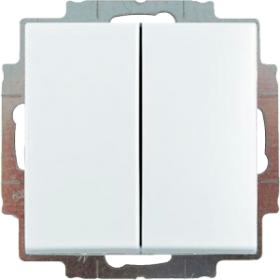 2006/5 UC-94-507 Выключатель 2-клавишный (сх. 5) Basic 55 цвет-белый ABB : интернет-магазин Elmar Украина