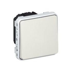 Механизм выключателя/переключателя одноклавишного IP55 белый Plexo : интернет-магазин Elmar Украина
