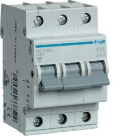 Автоматический выключатель три фазы 40 А 3п С 6 kA 3м Хагер : интернет-магазин Elmar Украина