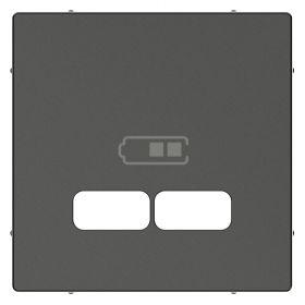 Лицевая панель зарядки USB антрацит System M : интернет-магазин Elmar Украина