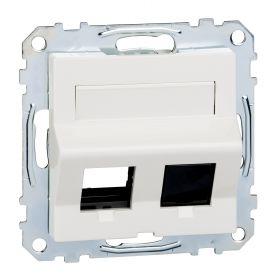 Лицевая панель двойной розетки Keystone RJ45 белый System M : интернет-магазин Elmar Украина