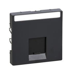 Лицевая панель компьютерной розетки антрацит System M : интернет-магазин Elmar Украина