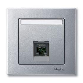 Лицевая панель компьютерной розетки алюминий System M : интернет-магазин Elmar Украина
