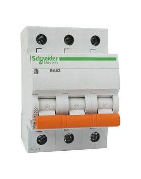 Автоматический выключатель ВА63 3P 50A C Домовой Schneider Electric : интернет-магазин Elmar Украина